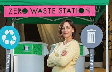 Listen: Waste360s Nothing Wasted Podcast Talks To Great Forest's Sarah Womer About Pedaling Her Way to Composting/Recycling Success