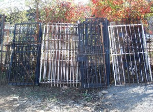 We accept wrought iron fencing and gates, as well as security bars for windows and doors