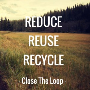 Reduce Reuse Recycle Cloose Loop