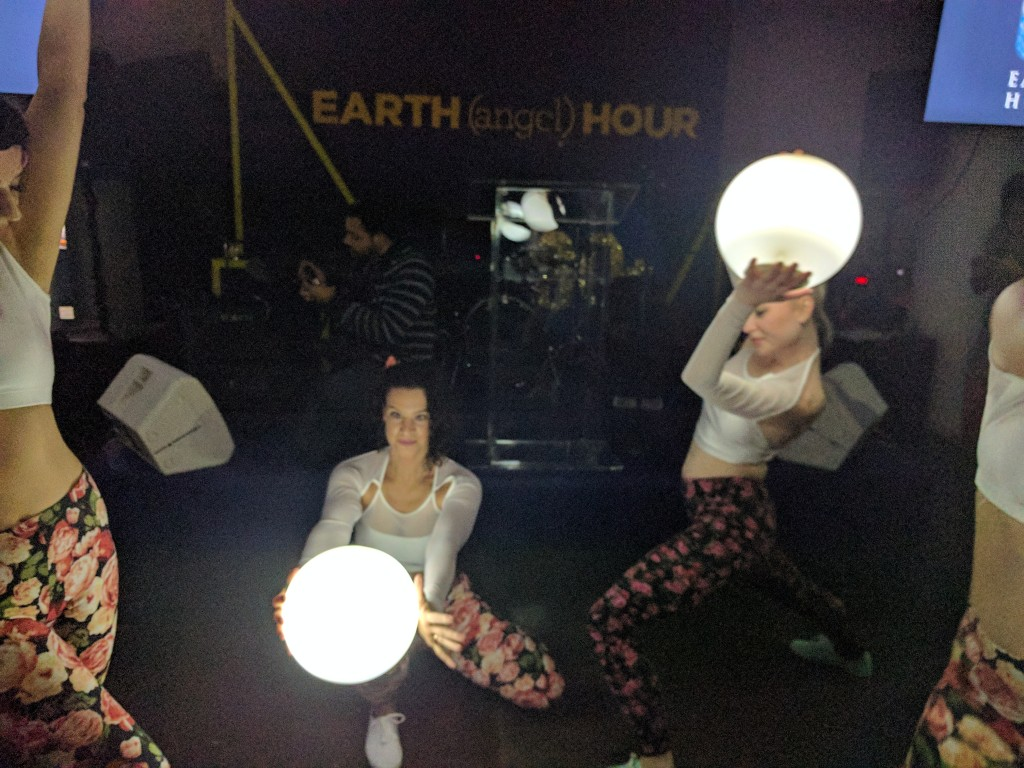 An Earth Hour celebration at the Starrett Lehigh Building in NYC.